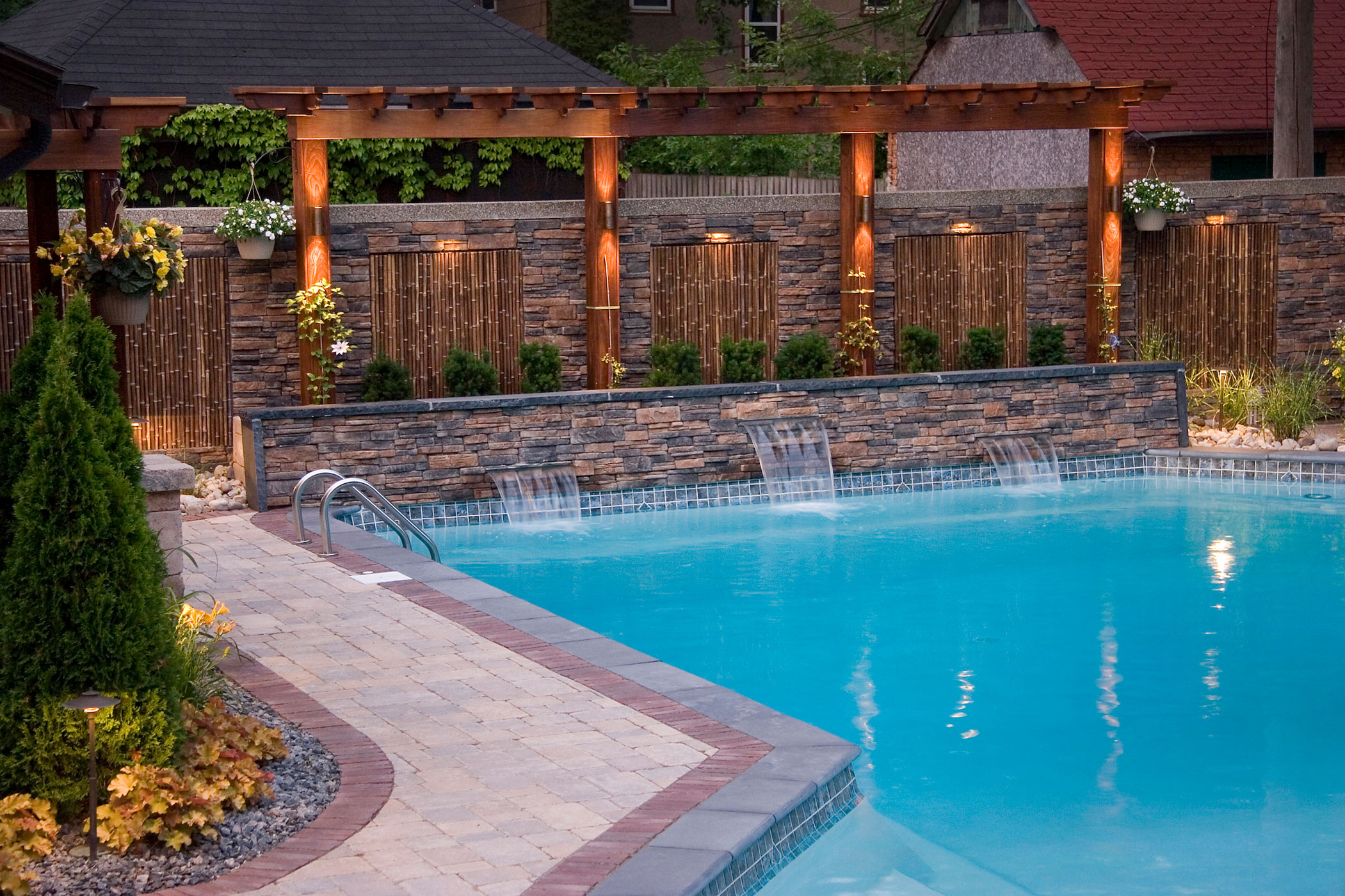 Pool design bellaire landscape inc for Pool design inc